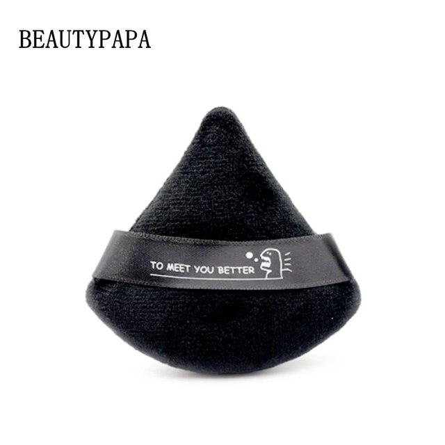 Beautypapa 2pcs (Black and White ) Triangle Velvet Powder Cosmetic Puffs Mini Makeup sponge Make up tools
