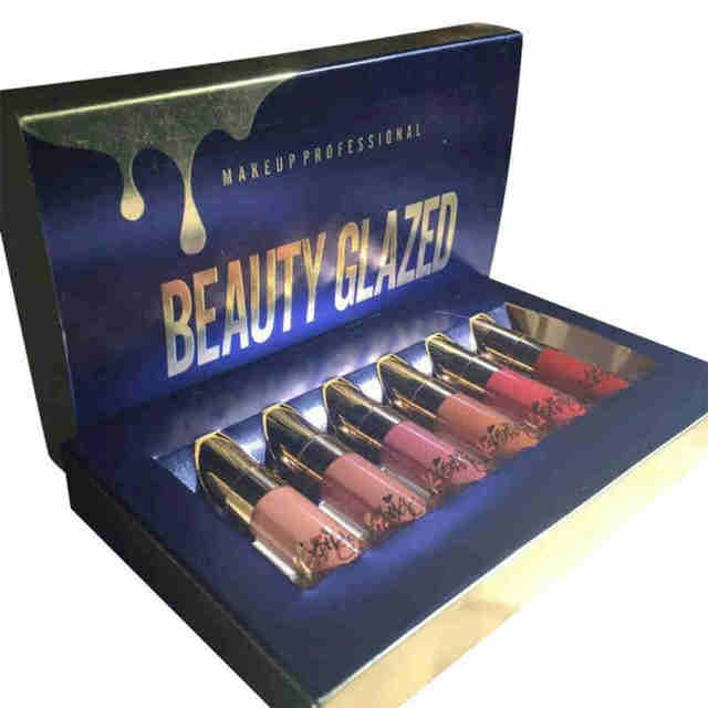 BEAUTY GLAZED 6pcs/Set Liquid Lipstick Lip Gloss Professional Makeup Matte Lipstick Lip Kit Long Lasting Cosmetics Maquiagem 5