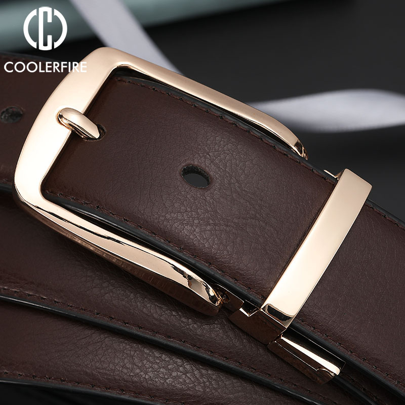 Men Dress Reversible Belts Casual High Quality Belt Genuine Leather Belt Male Vintage Luxury Black Brown