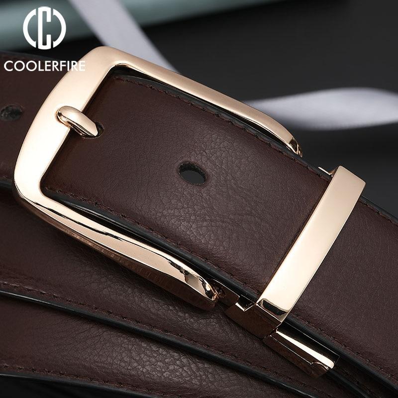Men Dress Reversible Belts Casual High Quality Belt Genuine Leather Belt Male Vintage Luxury Black Brown