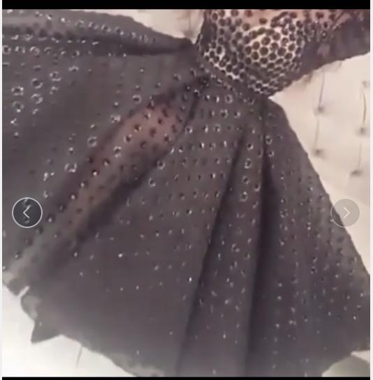 Модные черные платья для выпускного вечера с круглым вырезом и длинными рукавами