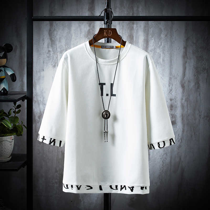 새로운 2020 편지 남자 티셔츠 인쇄 코튼 여름 짧은 소매 오-넥 티즈 남성 패션 셔츠