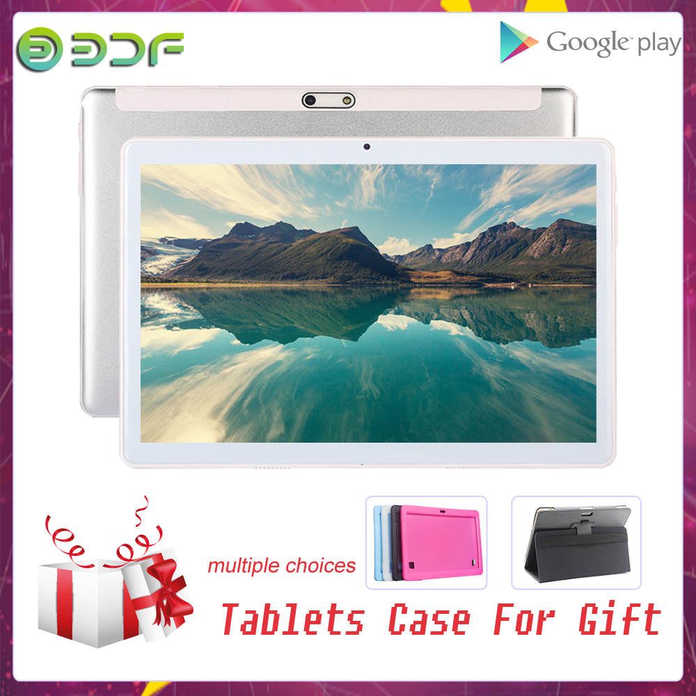 Free Gift Tablet Case Cover 10.1 Inch Tablet Pc Dual SIM 3G Phone Call Dual Camera Google Market GPS WiFi 10 Inch Kids Android 7