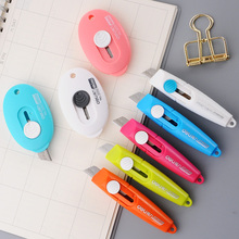 1pc mini retractable cute utility knife box cutter letter opener for cutting envelope food bag plastic wraputility
