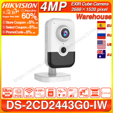 Hikvision DS 2CD2443G0 IW Wi Fiกล้องการเฝ้าระวังวิดีโอ 4MPคงที่IR Cubeไร้สายIPกล้อง 2 Way Audio H.265 +