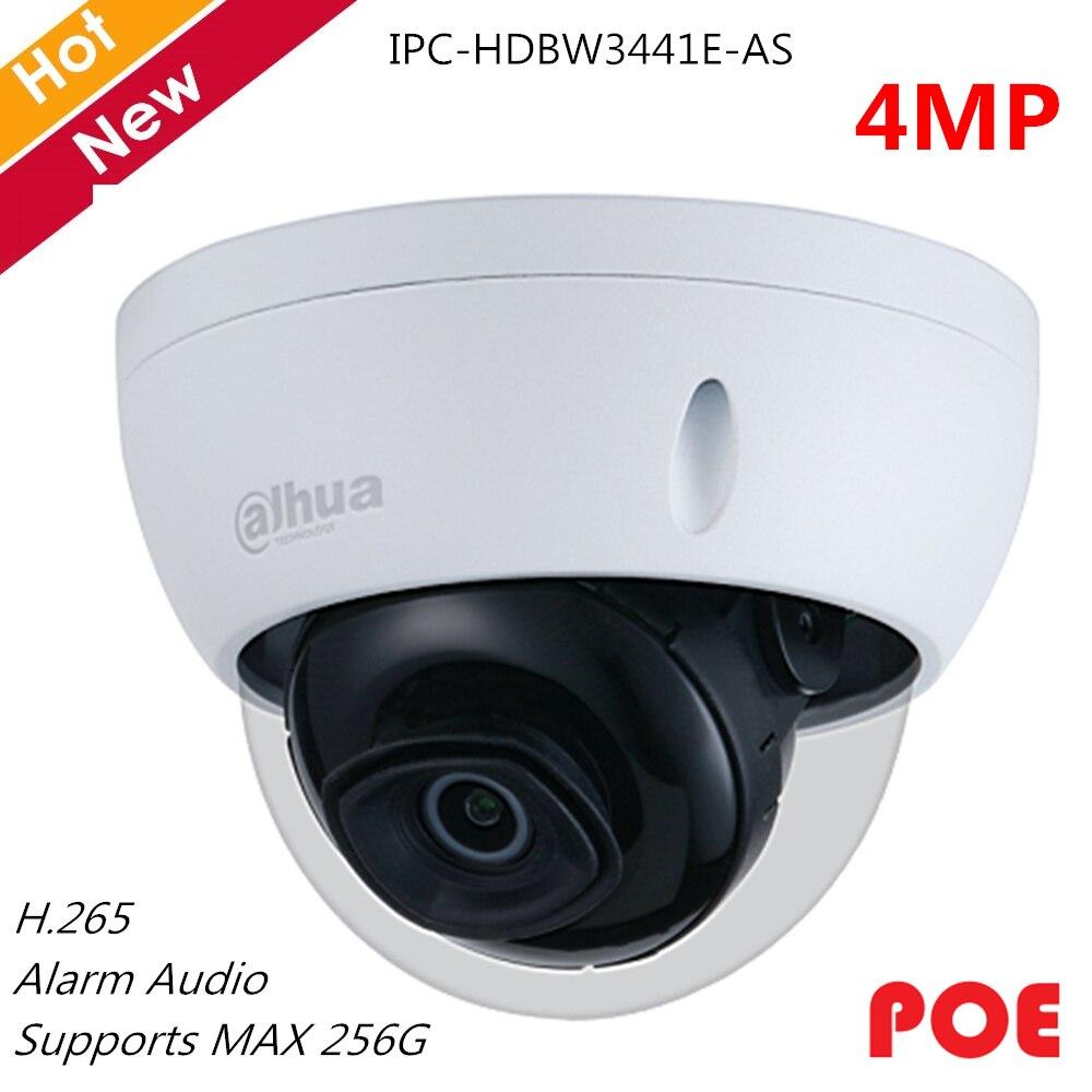 Dahua 4MP Dome Camera Network IP Camera 1/2.7 CMOS SMART H.264+ H.265+ Rotation Mode Support SD Card 256g IPC-HDBW3441E-AS