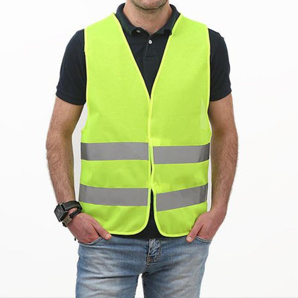 Reflective Vest High Visibility Fluorescent Outdoor Safety Clothing Waistcoat Safety Vest Ventilate Vest