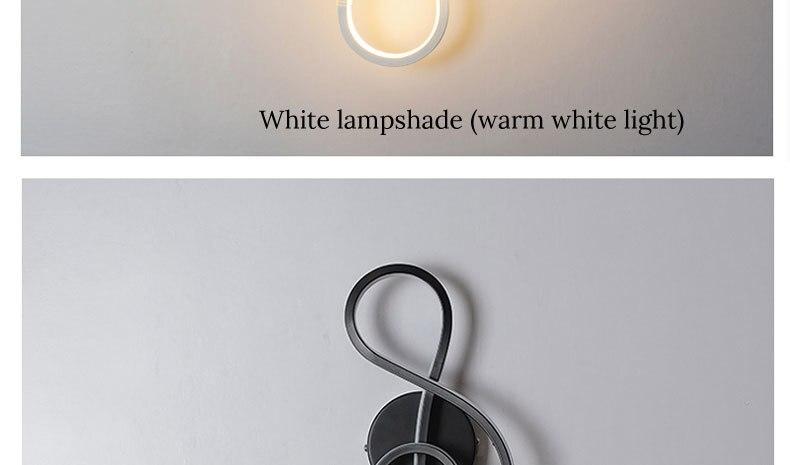 Brancopreto conduziu a lâmpada de parede moderna