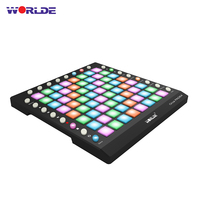 WORLDE PAD 3 Specifications New Shelves 64 MIDI Drum Pad Controller USB With Backlight Slider Electronic Musical Instruments