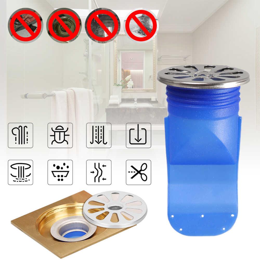 실리콘 주방 스트레이너 욕실 파이프 하 수구 방지 냄새 해충 방제 바닥 드레인 액세서리 라운드 스테인레스 스틸 커버