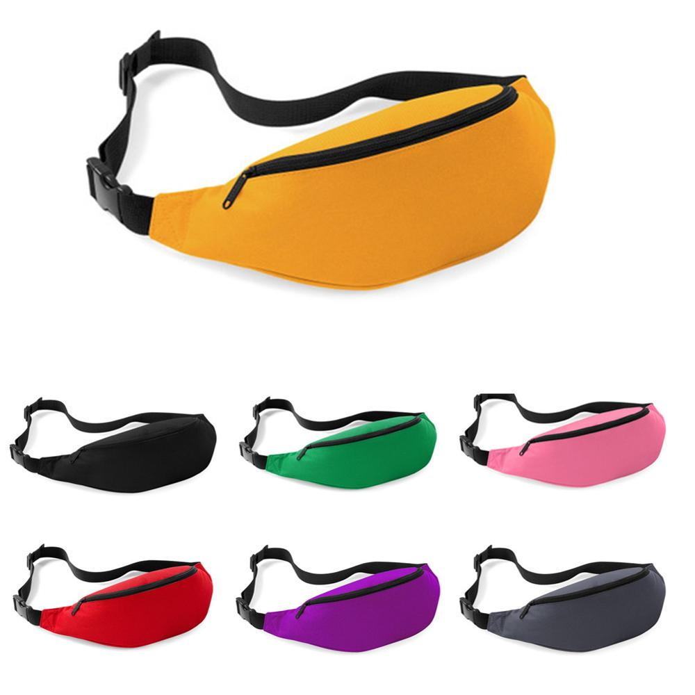 Meijuner Solid Waist Pack Sport Durable Bumbag Normcore Fanny Pack Canvas Casual Chest Bag WMJ004