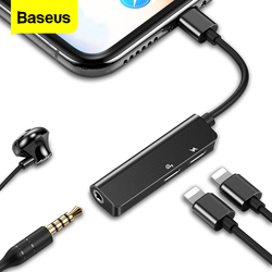 OTG Audio Aux Adapter For iPhone Xs Max Xr X 8 7 Plus OTG Cable 3.5mm Jack Earphone Charging For Lightning Splitter Converter