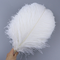 50 PCS Natural Real White Ostrich Feathers Wedding Party Home Vase Decoration feathers Ostrich Plumes Wholesale 40 45 CM Long