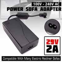 29V 2A AC/CC 2PIN reclinador de sofá eléctrico silla adaptador transformador fuente de alimentación