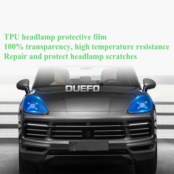 TPU Car Headlight Protection Resist Film B-Pillar C-Pillar Transparent Sticker for Porsche Cayenne Panamera Macan 718 image