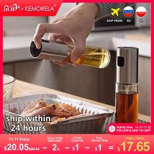 Image 1 - Kitchen Baking Oil Cook Oil Spray Empty Bottle Vinegar Bottle Oil Dispenser Cooking Tool Salad BBQ Cooking Glass  Oil sprayer