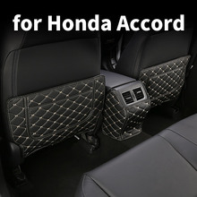 Car Seat Anti-kick Pad Seat Back Anti-dirty Anti-kick Protection Pad Decoration Modification For Honda Accord 10 2018 2020 car seat kick mat for lincoln mkz leather seat back protector proof anti dirty interior car accessories protection