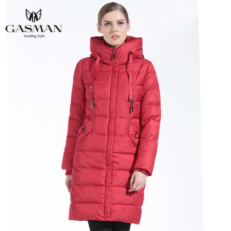 GASMAN 2019 kış kadınlar biyo aşağı ceket marka uzun kış ceket kadın kapşonlu aşağı Parka moda ceket yeni kış koleksiyonu