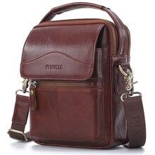 Sac à bandoulière en cuir véritable pour hommes, sac à main décontracté, grands sacs à main de styliste, petit fourre tout masculin à plusieurs compartiments