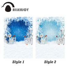 Allenjoy photophone backdrops Christmas winter wonderland snowflake snowman children frozen photo studio backgrounds photobooth