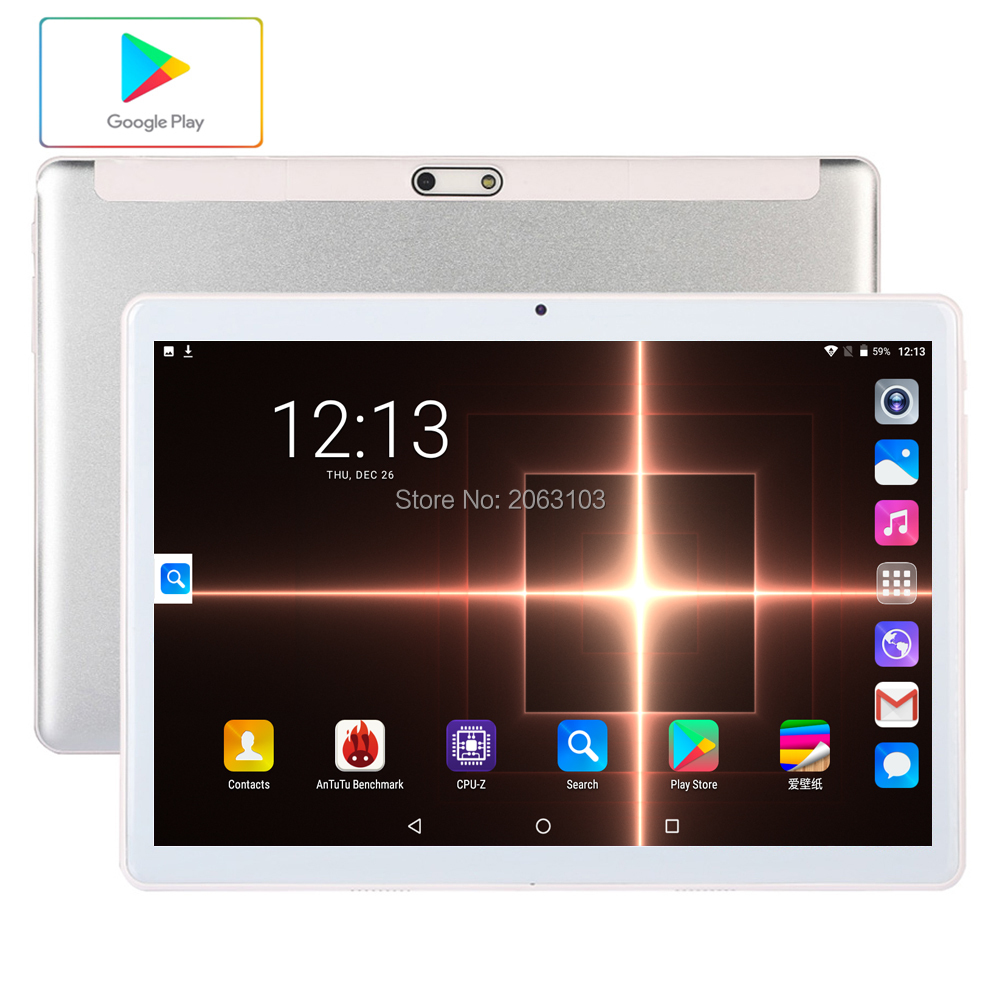 Newest Ultra Slim Android 7.0 Smart 10 Inch Tablet  96GB ROMH IPS Large Screen 3G Network Dual Sim Cards And Camera Mobile Call