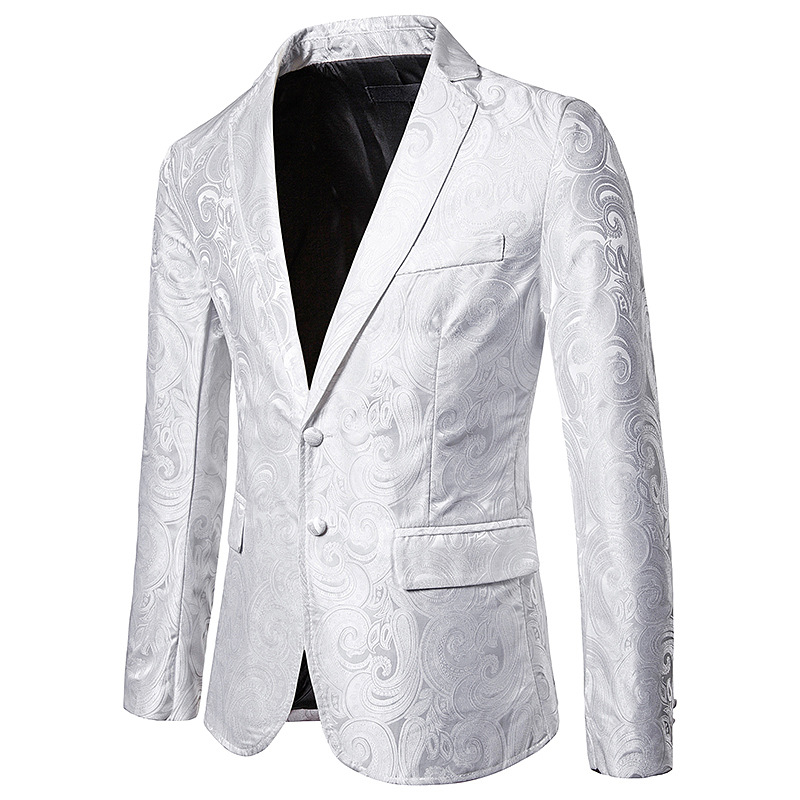 Blazer Stage-Costumes Wedding-Party Jacket Suit Coat Dress Slim-Fit Business Classic