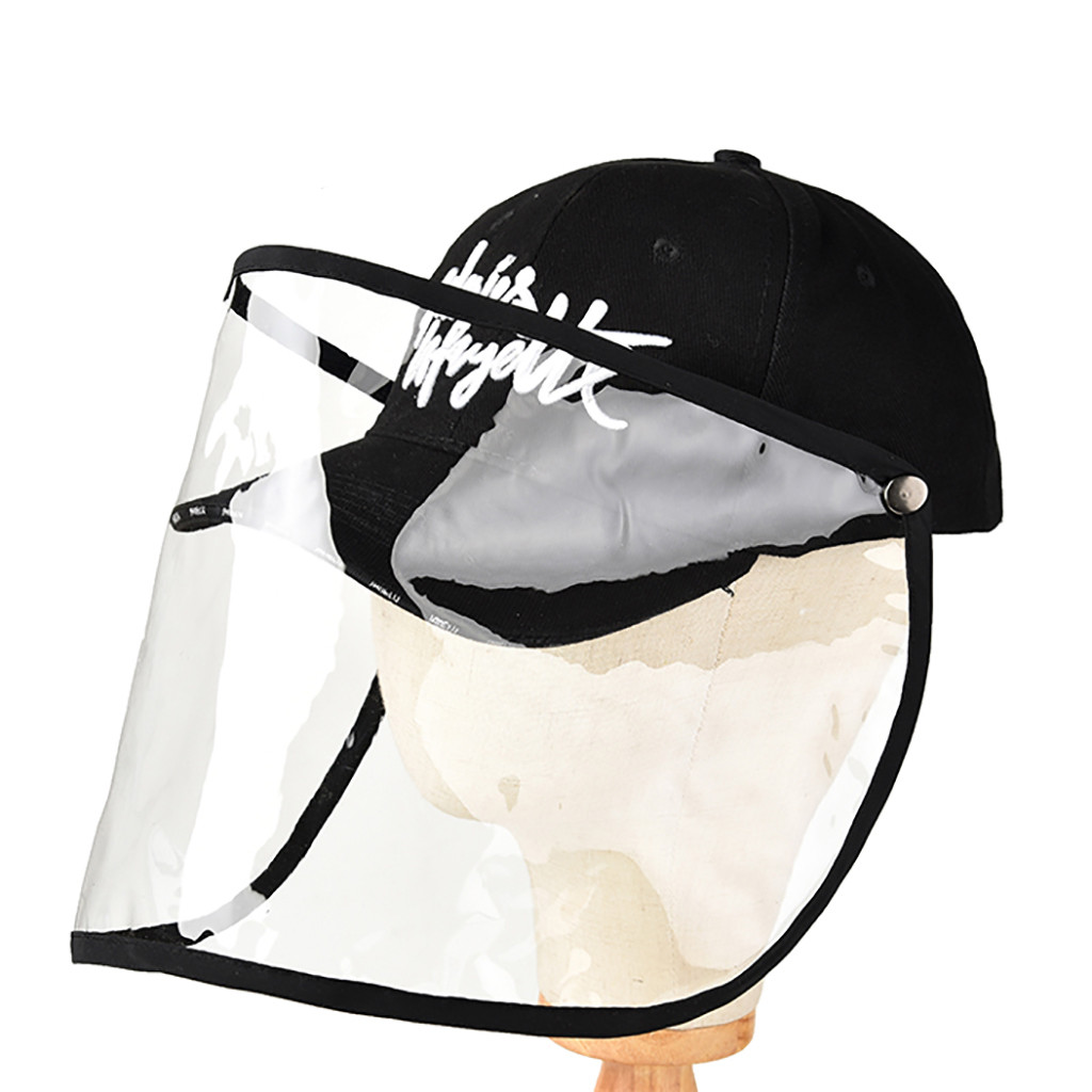 Adjustable Protective Hat Safety Helmet Waterproof and dustproof Effectively isolates saliva carrying viruses Visor Safety New(China)