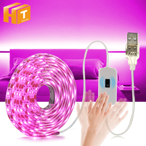 5V 2835 USB LED Strip Light Touch Switch / Hand Sweep Cabinet Lights 1M 2M 3M Pink / Ice blue / Warm White / White Fairy Light.