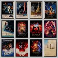 Star War Posters High Definition Wall Stickers Home Decoration Living Room Bedroom Home Retro Kraft Paper Poster Wall Stickers