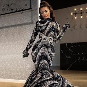 Image 2 - Muslim Glitter Evening Dresses Arabic Party Dress 2020 Dubai Long Formal Women Prom Gowns Middle East Kaftans Robe De Soiree