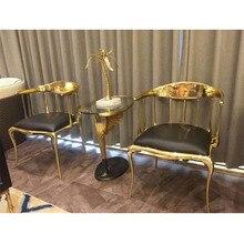 Итальянский эксклюзивный дизайн обеденной мебели обеденный стол стул медный