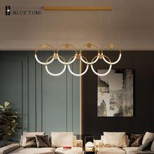 Modern LED Pendant Light For Living Room Bedroom Dining Room Hanging Lamp Art Decroation Chandelier Pendant Lamp Circles Lights
