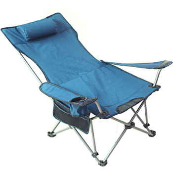 Outdoor folding recliner dual-use lunch bed home wild camping beach chair back fishing chair