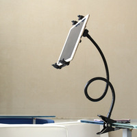 Universal Car Bed 360 Degree Rotating Flexible Clip on Holder Mount Kit Hands Free Gooseneck Mount for Phone Tablet QJY99|Tablet Stands| |  -