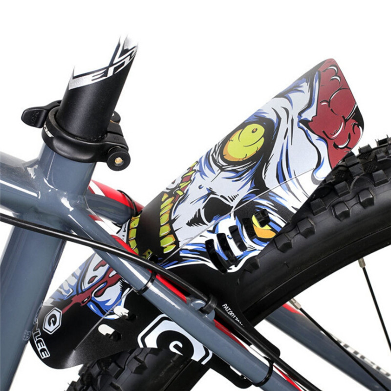 Bicycle Mudguard Front Rear Mudguard Cycling Road MTB Mountain Bike Durable Fender With 6 Fixing Strap Bike Accessories