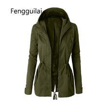 FENGGUILAI Autumn Winter Zipper Women Basic Jackets Casual Female Outerwear Coat