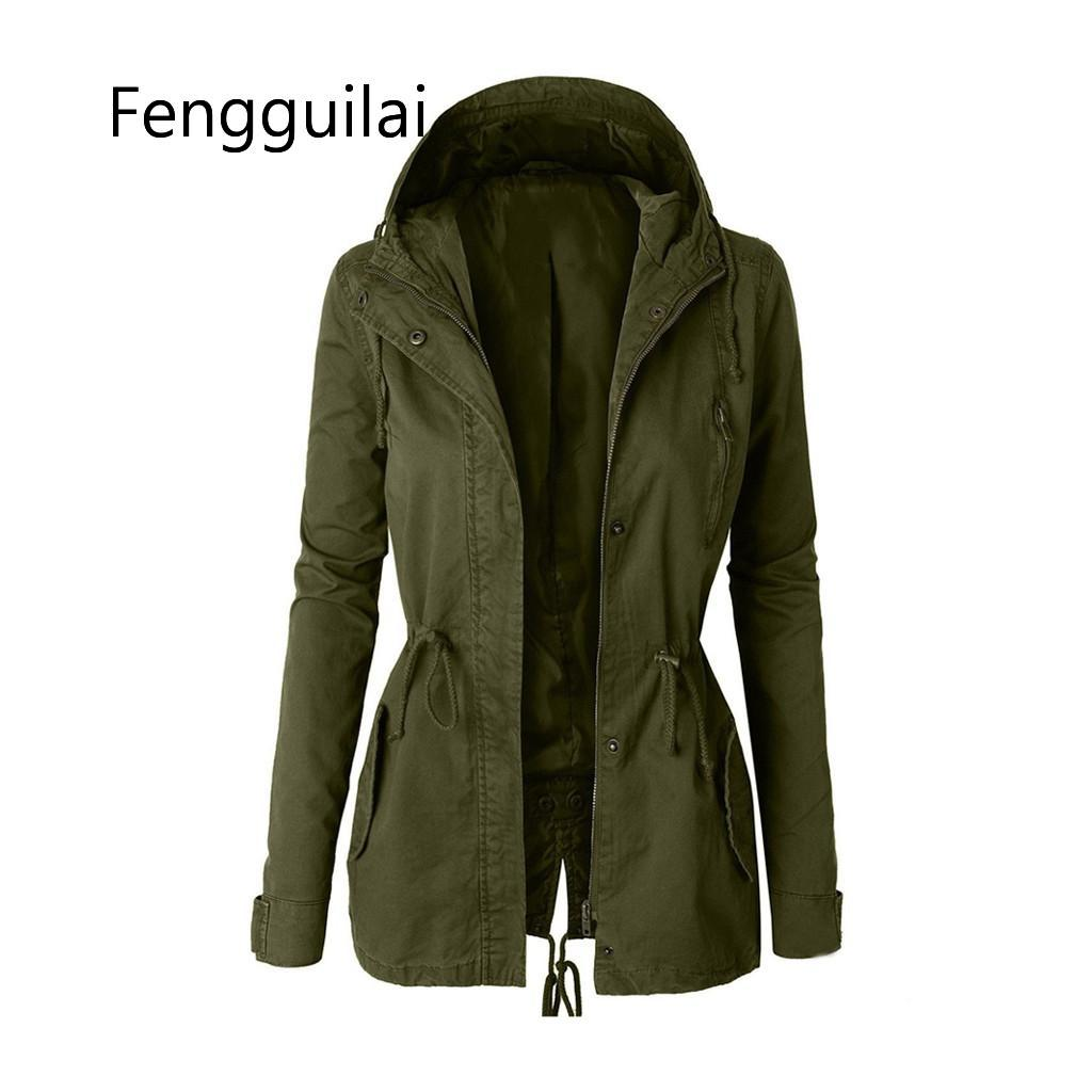 FENGGUILAI Autumn Winter Zipper Women Basic Jackets Casual Female Outerwear Coats Warm Ladies Jackets Cardigan Long Sleeve Jacke