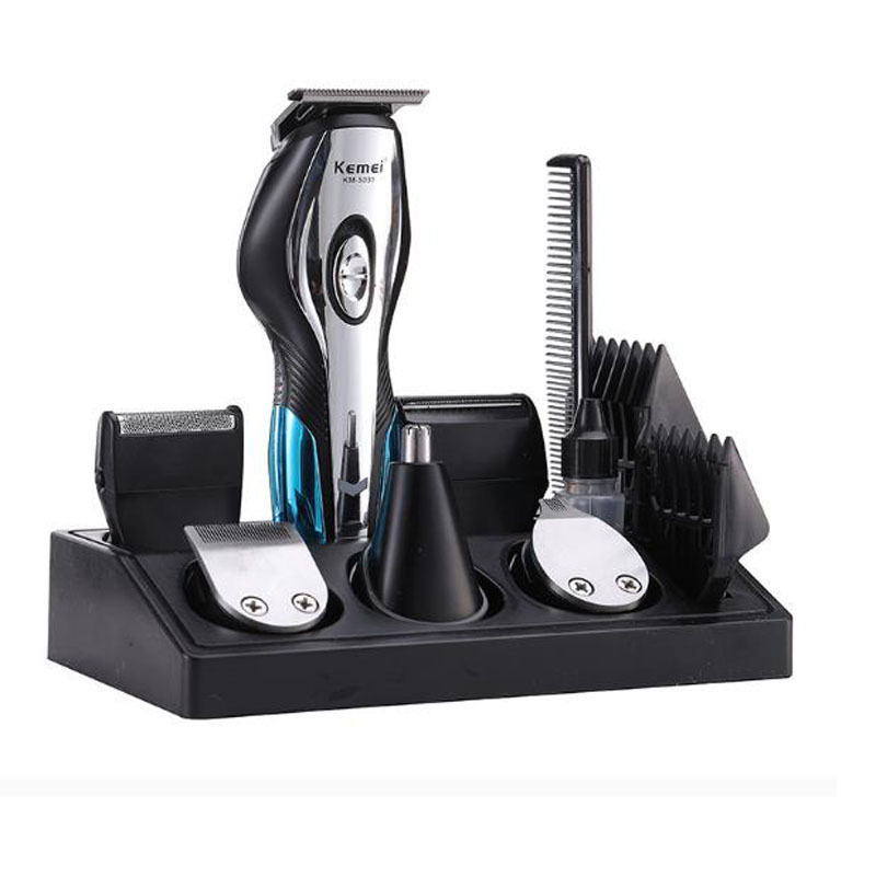 <font><b>kemei</b></font> hair trimmer KM-<font><b>5031</b></font> electric hair clipper 11 in 1 haircut machine bald head oil head nose shaver beard razor rechargeable image