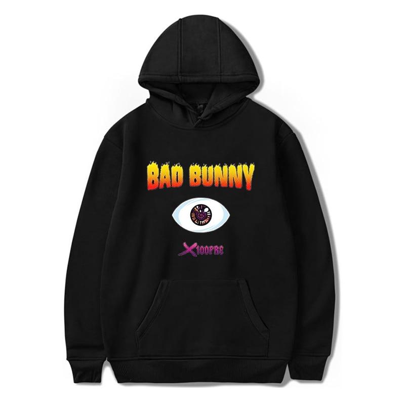FASHION Female Casual Hoodies Bad Bunny Hooded Pullovers Men's Harajuku Streetwear Sweatshirt Autumn Boys/Girls Hip Hop Hoody