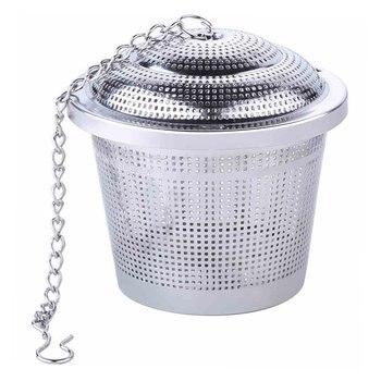 Durable 304 Stainless Steel Supplies Seasoning Jar Tea Filter Ball Halogen