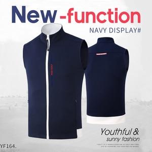 Image 5 - 1 Piece Golf Vest PGM Apparel golf Clothes Mens vest autumn and winter thermal vest windproof waterproof jacket