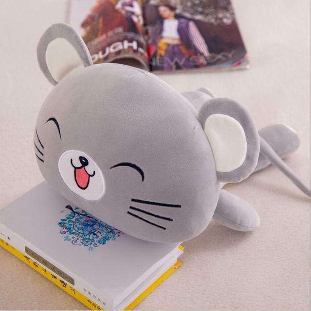 Pink Mouse Plush Toy Small Gray Mouse Doll Mascot Mouse Pillow Birthday Kid Gift Toys Plush Toys