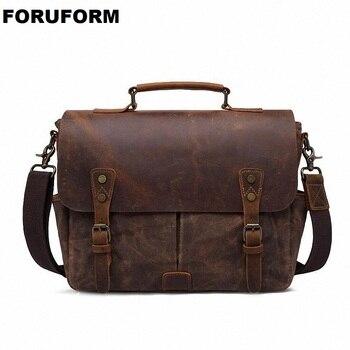 2019 New Fashion Vintage Men Waterproof Canvas Handbags High Quality Men Shoulder Bags Male Big Capacity Messenger Bags LI-2568