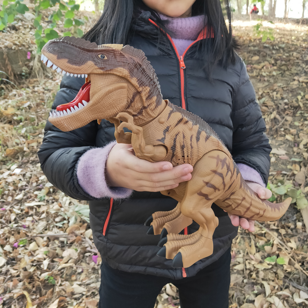 Children Toys Amazing Spray Electric Walking Dinosaur Toy Tyrannosaurus Rex Lay Eggs Lights Roar Sounds Kids Boy Birthday Gifts