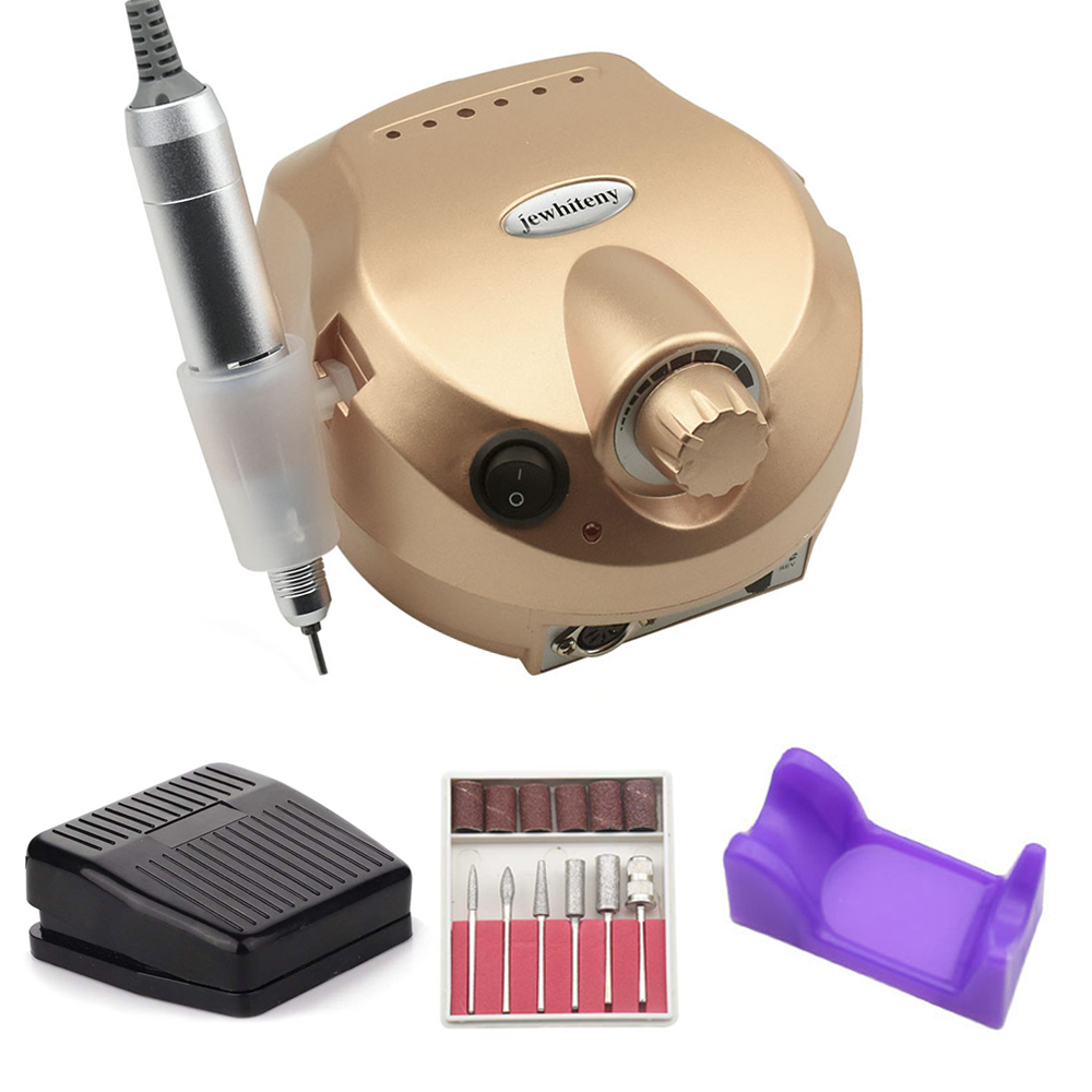 Nail Drill Machine 20W 35000RPM Professional Machine Apparatus For Manicure Pedicure Kit Electric File With Cutter Nail Art Tool