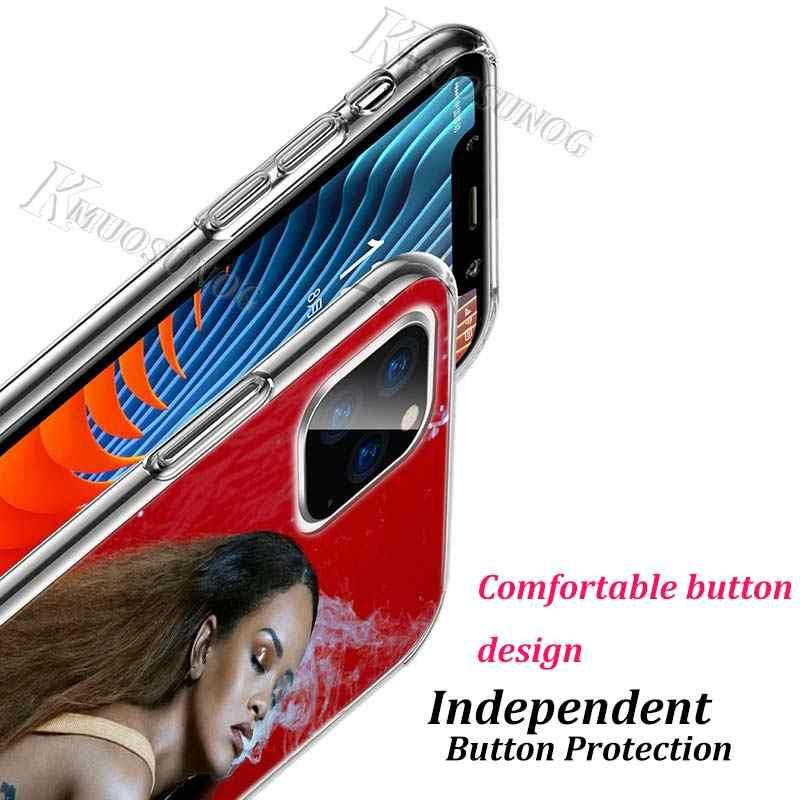 Przezroczysty etui z tpu Sexy gwiazda popu Rihanna dla iPhone 11 11 pro XS MAX XR X 8 7 6S 6 Plus 5S etui na telefony