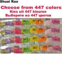 Wholesale DMC 447 Colors Full Round/square Drill Diamond Rhinestone,Diamond Painting sale Full Stone crystal Beads Accessory