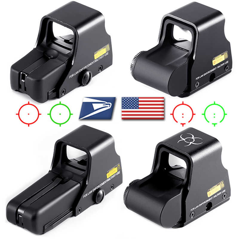 Collimator Holographic Sight Red Dot DOptic Sight Reflex Sight dengan 20Mm Rail Mount untuk Airsoft Senapan Sniper Berburu Taktik