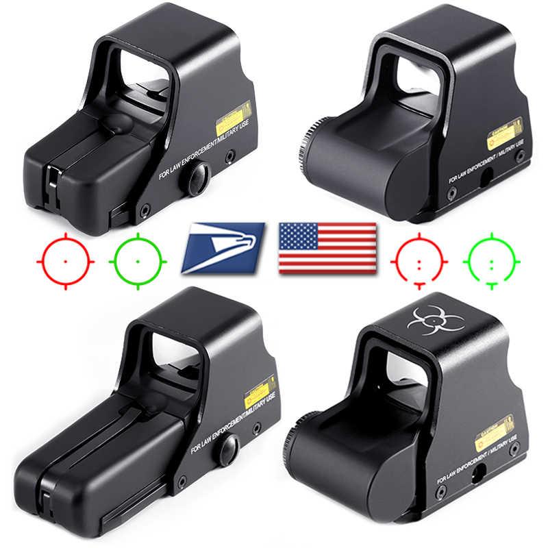 Collimator Holographic Sight Merah DOptic Sight Reflex Sight dengan 20Mm Rail Mount untuk Airsoft Senapan Sniper Berburu Taktik