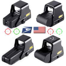 Collimator Holographic Sight Red Dot DOptic Sight Reflex Sight with 20mm Rail Mounts for Airsoft Sniper Rifle Hunting Tactics